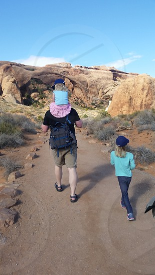 Hike to Landscape Arch in Arches National Park photo