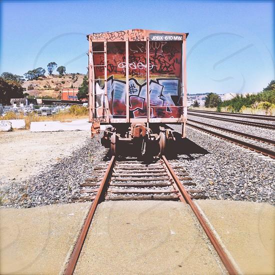 Train car graffiti  photo