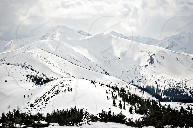 mountains snow winter photo