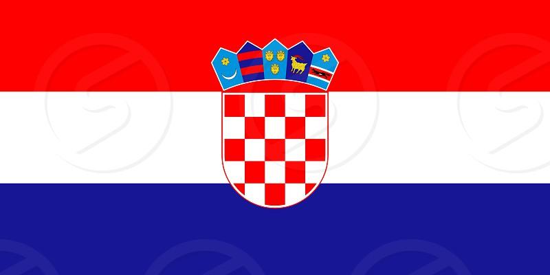 Official Large Flat Flag of Croatia Horizontal photo