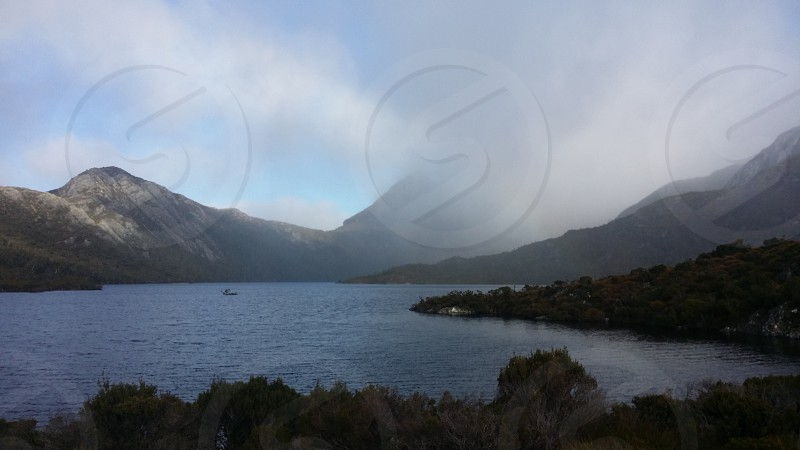 Beautiful cradle mountain in tasmania Australia photo