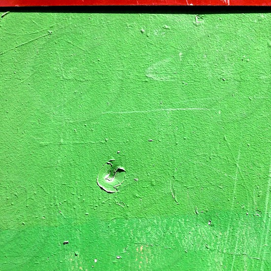 green concrete wall photo
