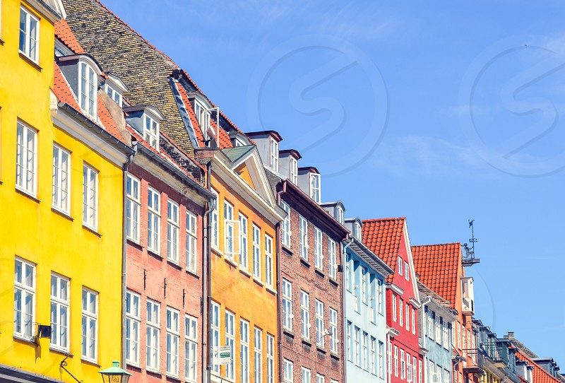 colors travel copenhagen denmark danish houses architecture  photo