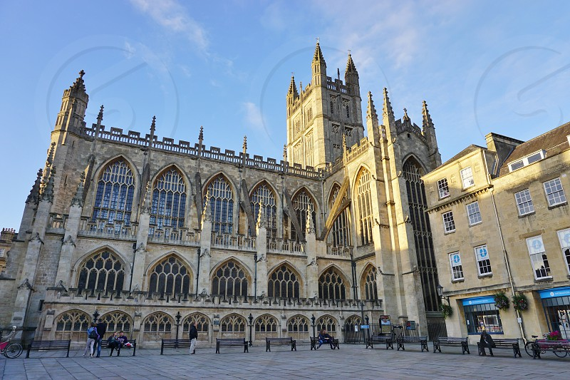 The Bath Abbey cathedral in Bath England photo