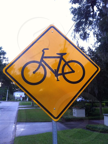 Cycling sign photo