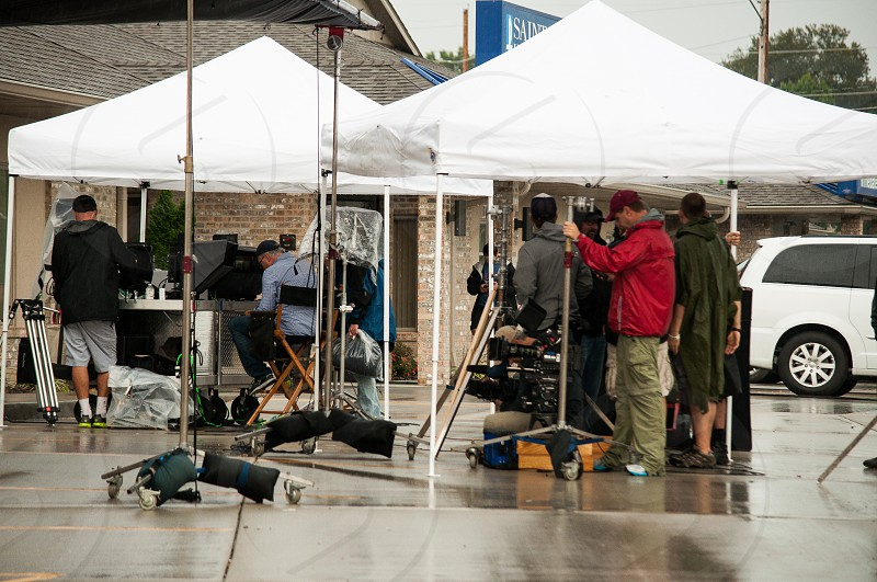 "The incredibleDavid Fincher and crew directing ""Gone Girl"" in my hometown Cape Girardeau Missouri. photo"