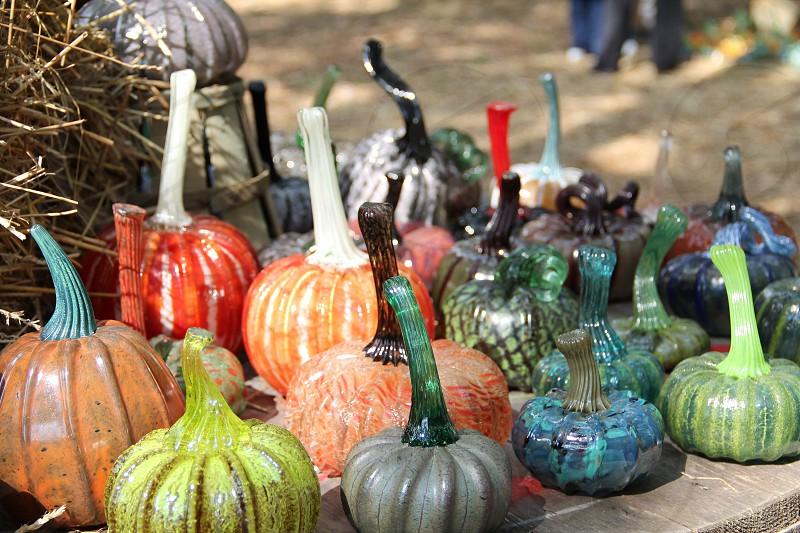 Glass pumpkins photo