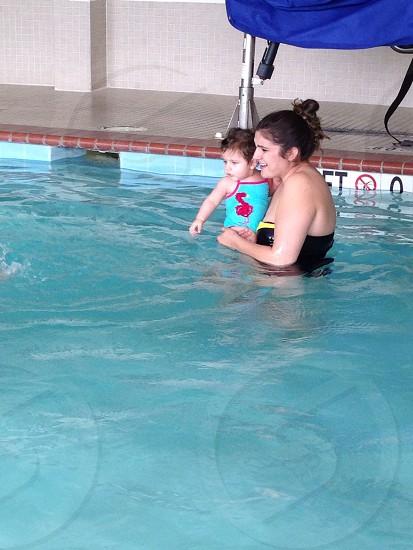 Her first swim! photo