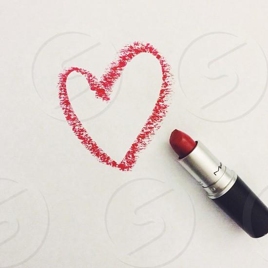 red lipstick photo