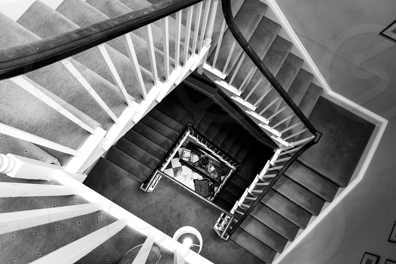 BRISTOL UK - MAY 14 : Large staircase in a house in Bristol on May 14 2019 photo