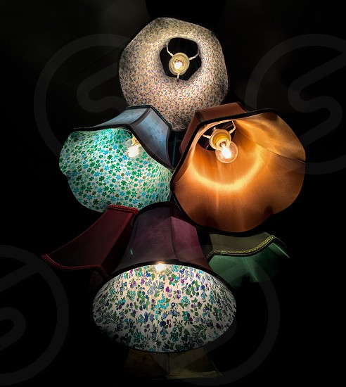 assorted color lampshades photo