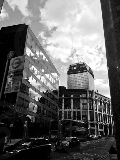 Photo taken on Bishopsgate looking towards Leadenhall Market & 20 Fenchurch Street Street - AKA 'The Walkie Talkie' photo