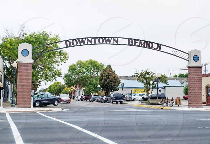 Gateway to Downtown Bemidji Minnesota USA. photo