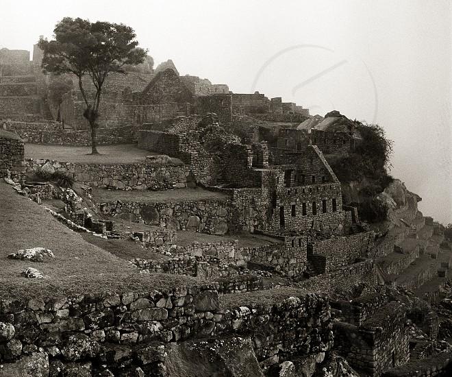 Ruins of Machu Picchu in Peru photo
