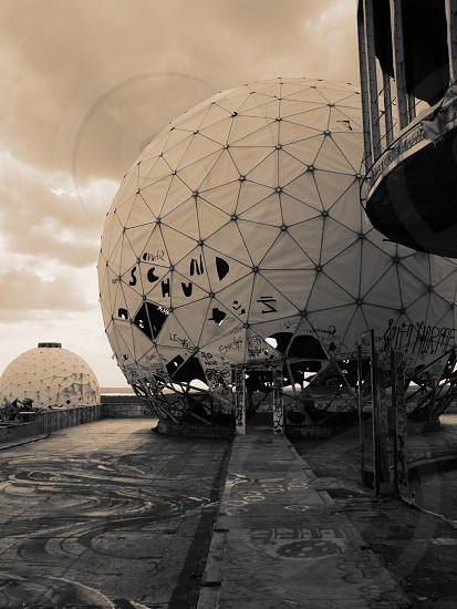 Teufelsberg devils mountain former American spy towers in west Berlin photo