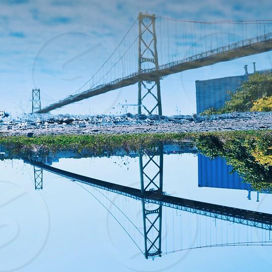 gray bridge photo