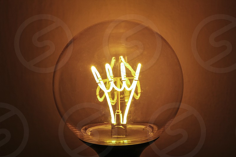Light generated by a light bulb photo