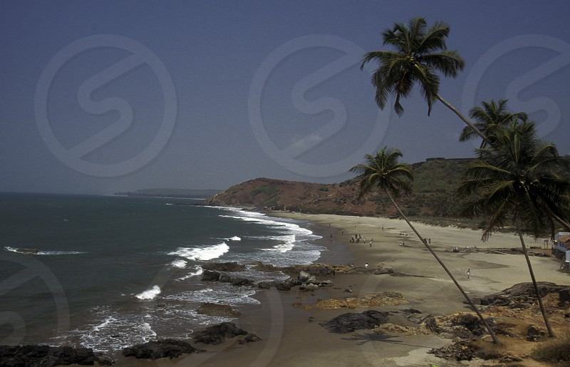 the beach of vagador in the Province Goa in India. photo