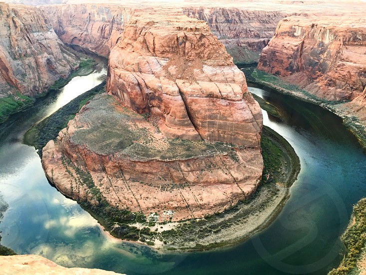 Beautiful view of the Horseshoe bend in Page photo