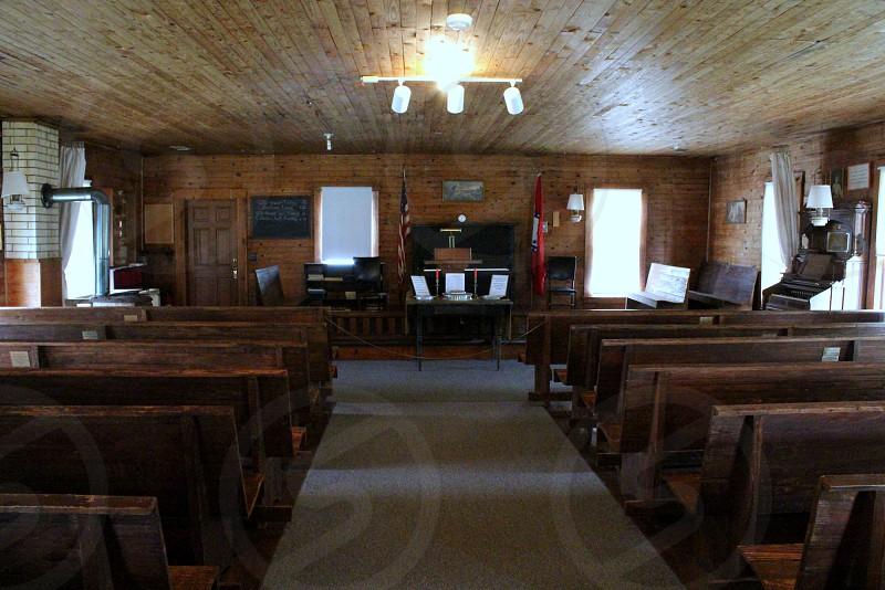 Inside of 1960s Baptist Church photo