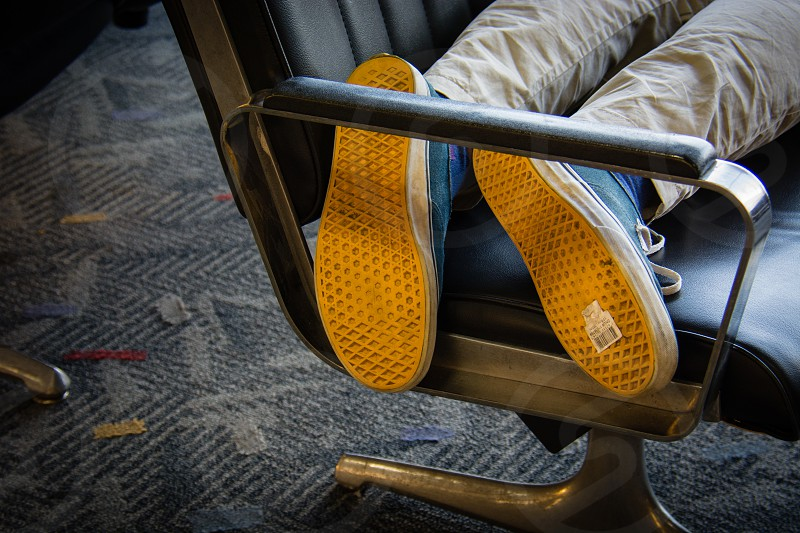 shoes airport travel traveler layover photo