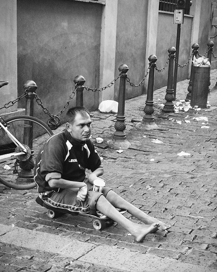 Beggar in Roma photo