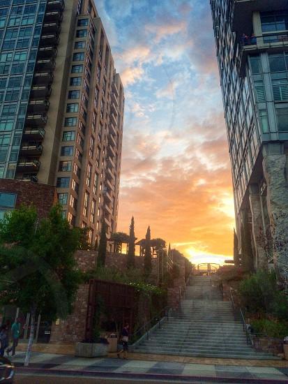 Downtown San Diego Sunset photo