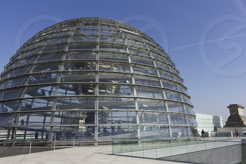 Glass Dome on top of the  Reichstag building - Berlin photo