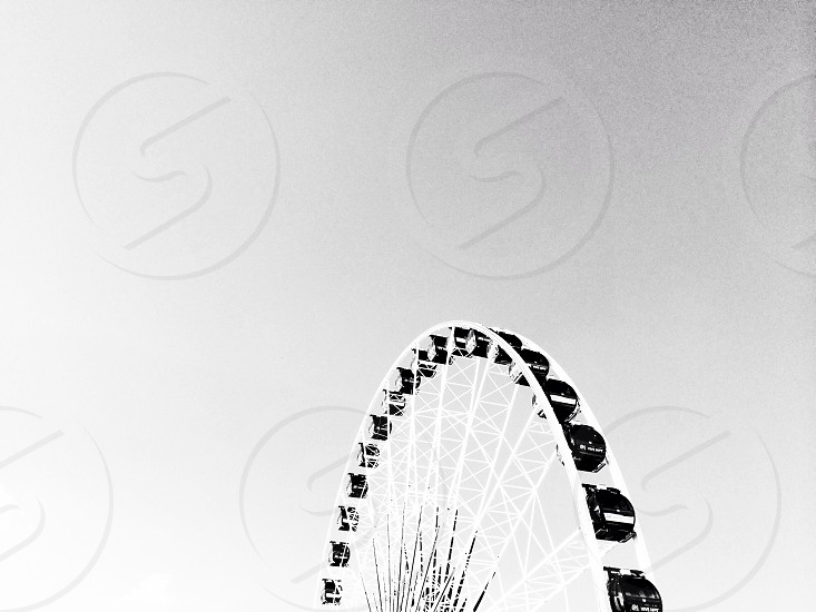 white and black ferris wheel photo