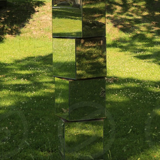 Stacked Cubed Mirrors in Nature Mirrors Reflections photo