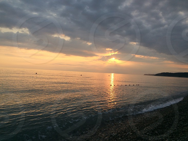 Море вечер Чёрное море закат photo