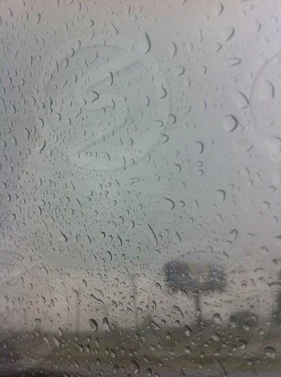 Raining on the car photo