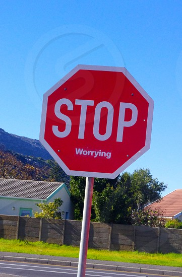 red stop sign photo
