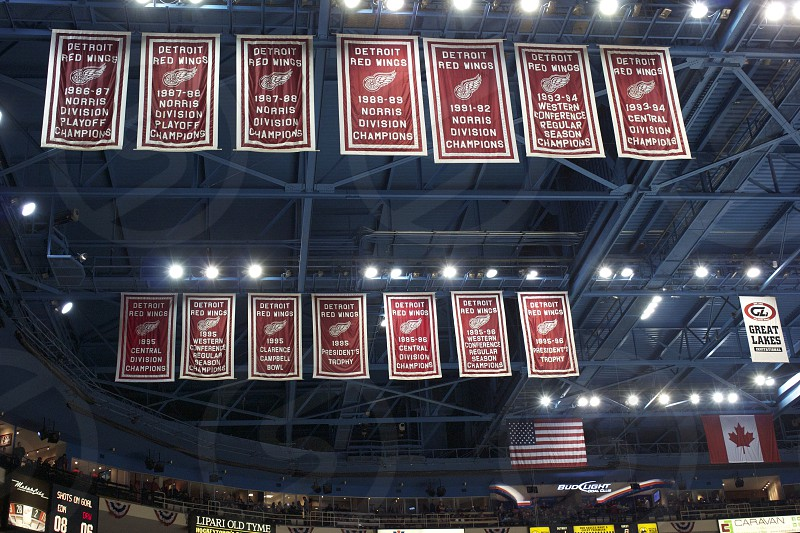 Banners at the Joe Louis Arena photo