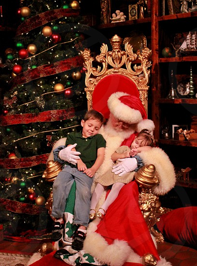 Sleeping with Santa photo