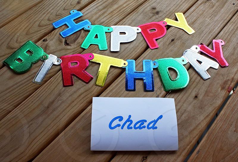 happy birthday chad photo