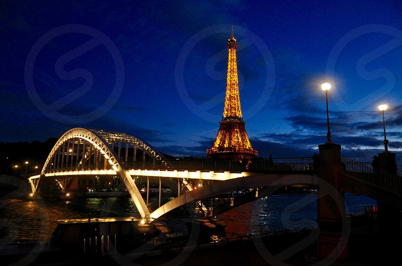 Beautiful Night Paris View By Mariia Kamenska Photo Stock Snapwire