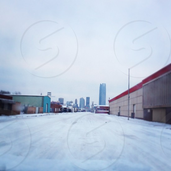 The warehouse district of Oklahoma City looking towards downtown photo