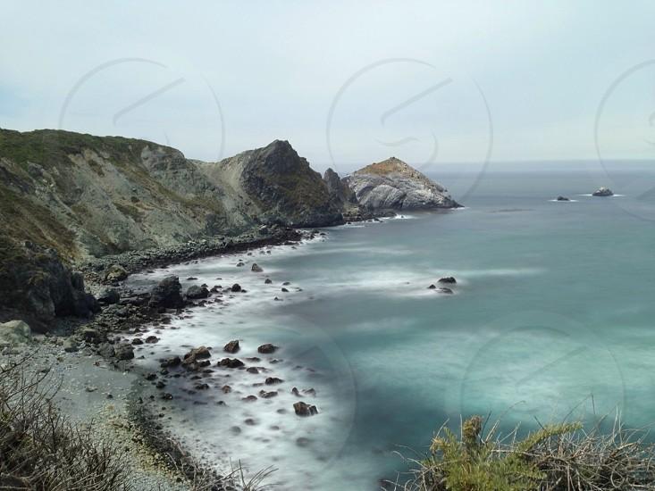 cliffs on shore line photo