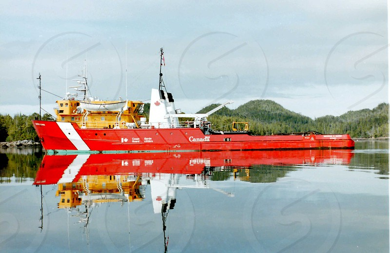 """""""Reflection of George"""" a rare calm sea moment at anchor in the Queen Charlotte Islands photo"""
