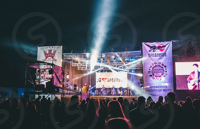 Kremenchuk Ukraine night stage lights live sound lifestyle life concert photography professional photographer city vibes band music live music canon canon photography awesome sharp evening time weekend  photo