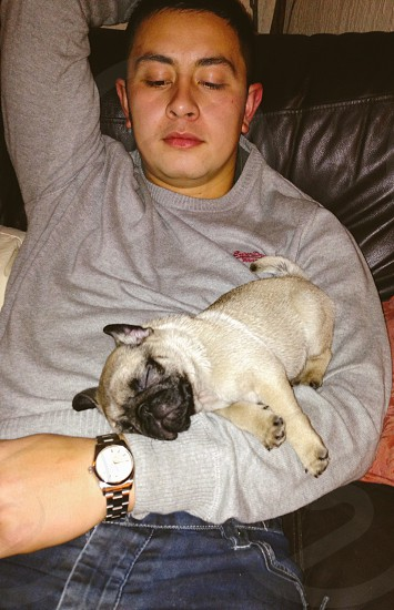 Martin with his dog denzal  photo