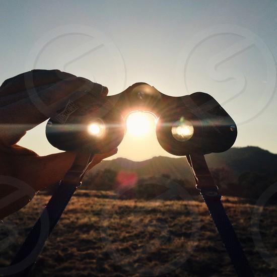 gray and black binoculars photo