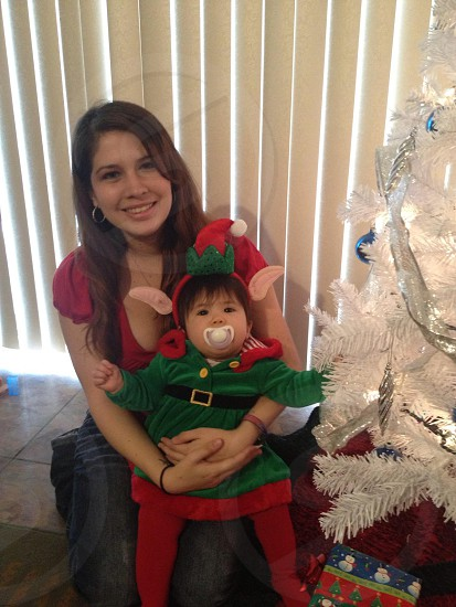 My daughter's first Christmas (2012). photo