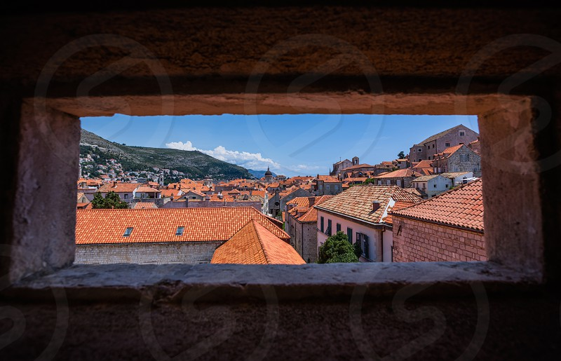 Dubrovnik Old Town from city walls photo
