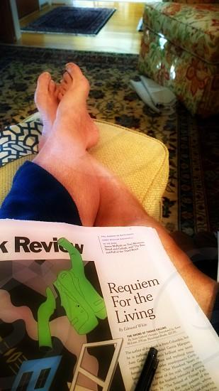 relax ottoman legs photo