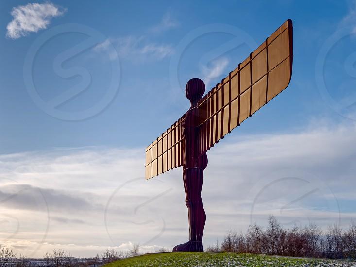 GATESHEAD TYNE AND WEAR/UK - JANUARY 19 : View of the Angel of the North Sculpture in Gateshead Tyne and Wear on January 19 2018 photo