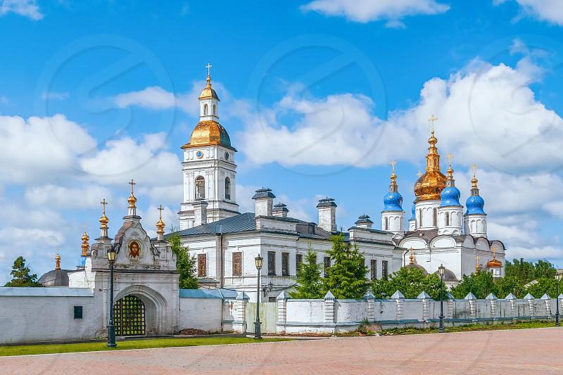 Northern Sacred gate of the Tobolsk Kremlin. Tobolsk. Tyumen Oblast. Russia  photo