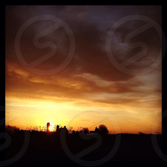 Sunrise on the farm photo
