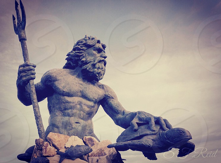 King Neptune Virginia Beach Greek Mythology beach statue Neptune Park oceanfront tourist attraction  photo